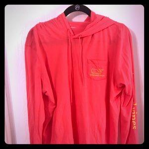 Vineyard Vines pink hooded t-shirt in XL